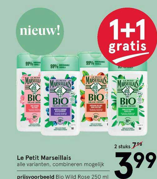 Etos Le Petit Marseillais Bio Wild Rose 1+1 Gratis