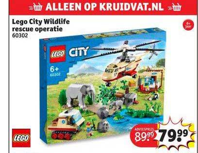 Kruidvat Lego City Wildlife Rescue Operatie