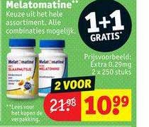 Kruidvat Melatomatine Extra 0.29mg 1+1 Gratis