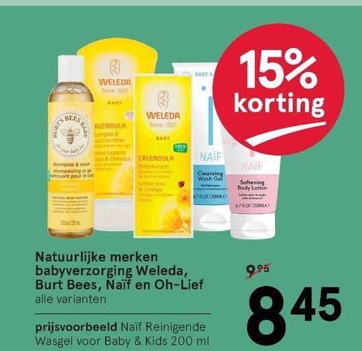 Etos Natuurlijke Merken Babyverzorging Weleda, Burt Bees, Naïf En Oh-Lief 15% Korting