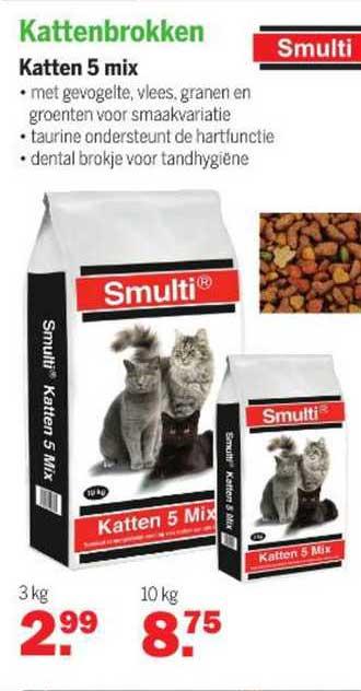 Van Cranenbroek Smulti Kattenbrokken Katten 5 Mix