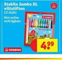 Kruidvat Stabilo Jumbo XL Viltstiften 12 Stuks