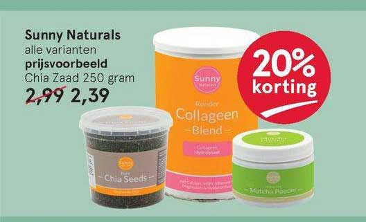Etos Sunny Naturals Chia Zaad 20% Korting
