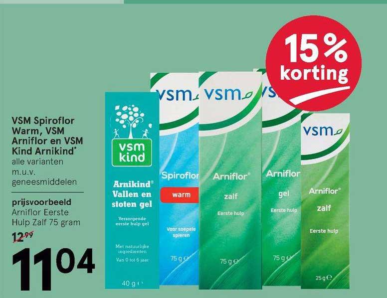 Etos VSM Spiroflor Warm, VSM Arniflor En VSM Kind Arnikind 15% Korting