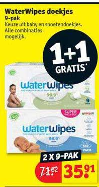 Kruidvat WaterWipes Doekjes 1+1 Gratis
