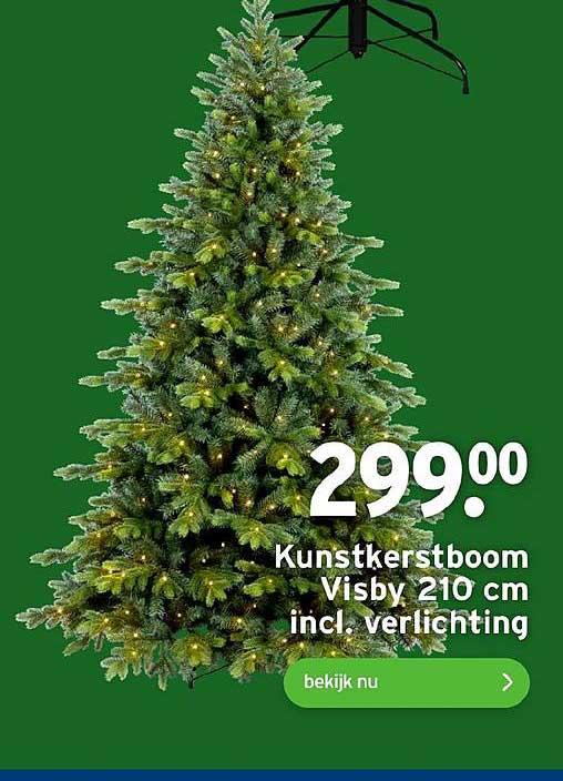 Gamma Kunstkerstboom Visby 210 Cm Incl. Verlichting
