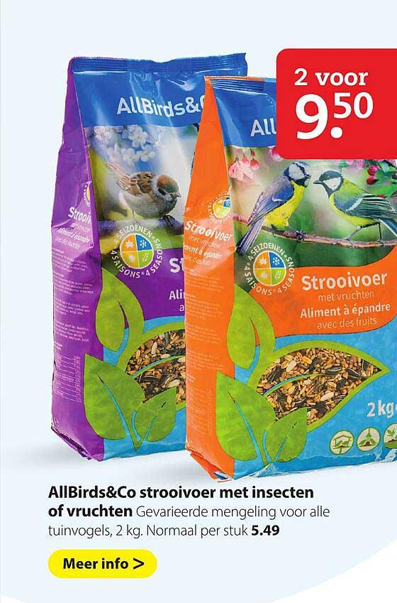 Pets Place AllBirds&Co Strooivoer Met Insecten Of Vruchten