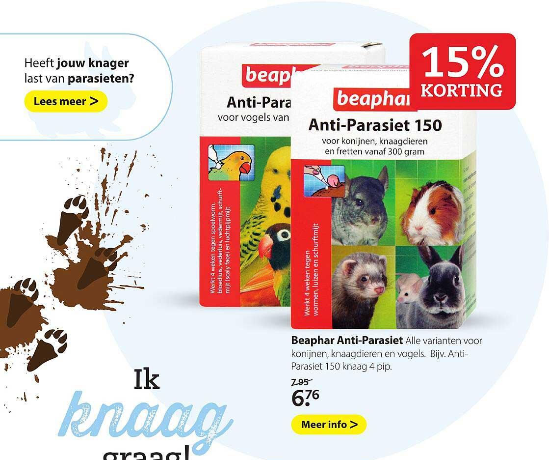 Pets Place Beaphar Anti-Parasiet 15% Korting