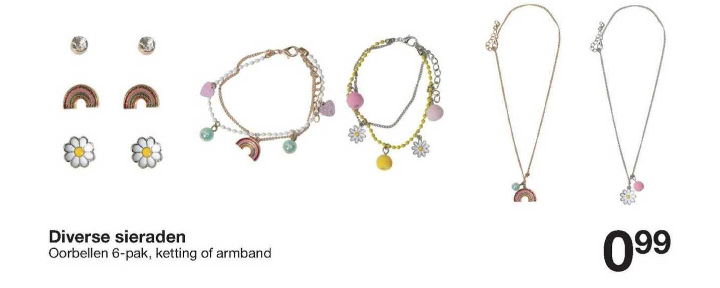 Zeeman Diverse Sieraden : Oorbellen, Ketting Of Armband