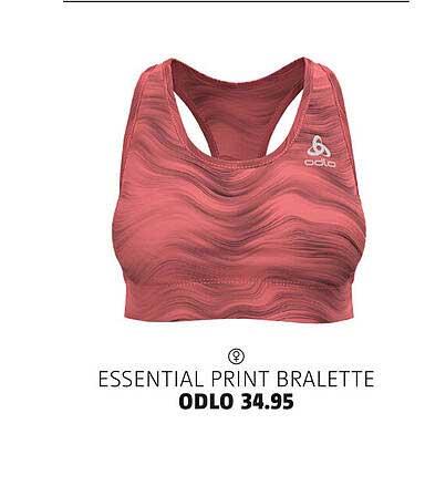 Bever Essential Print Bralette Odlo