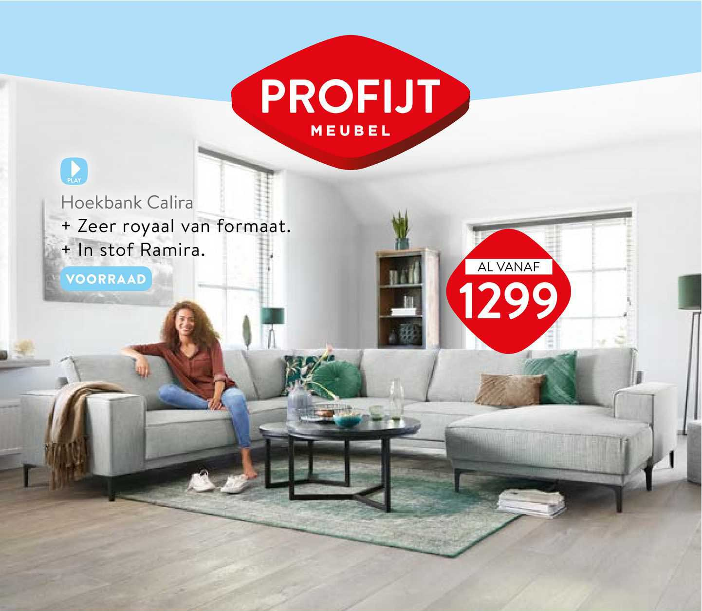 Profijt Meubel Hoekbank Calira