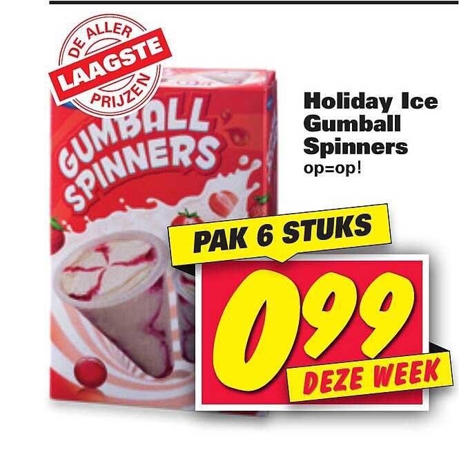 Nettorama Holiday Ice Gumball Spinners