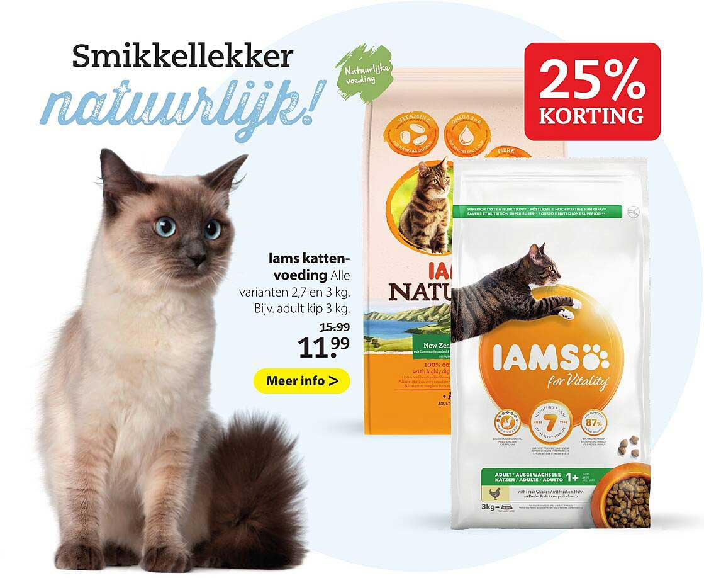 Pets Place Iams Kattenvoeding 25% Korting
