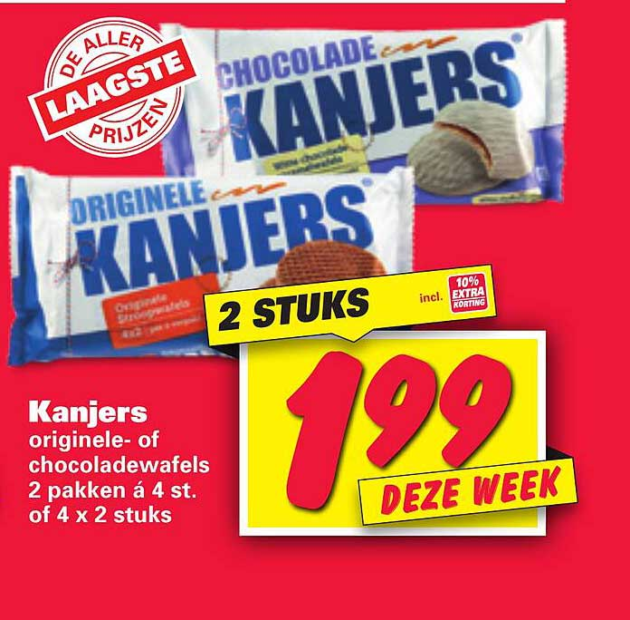 Nettorama Kanjers Originele- Of Chocoladewafels