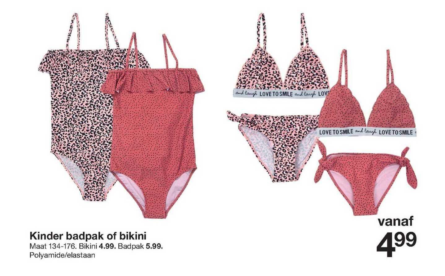 Zeeman Kinder Badpak Of Bikini