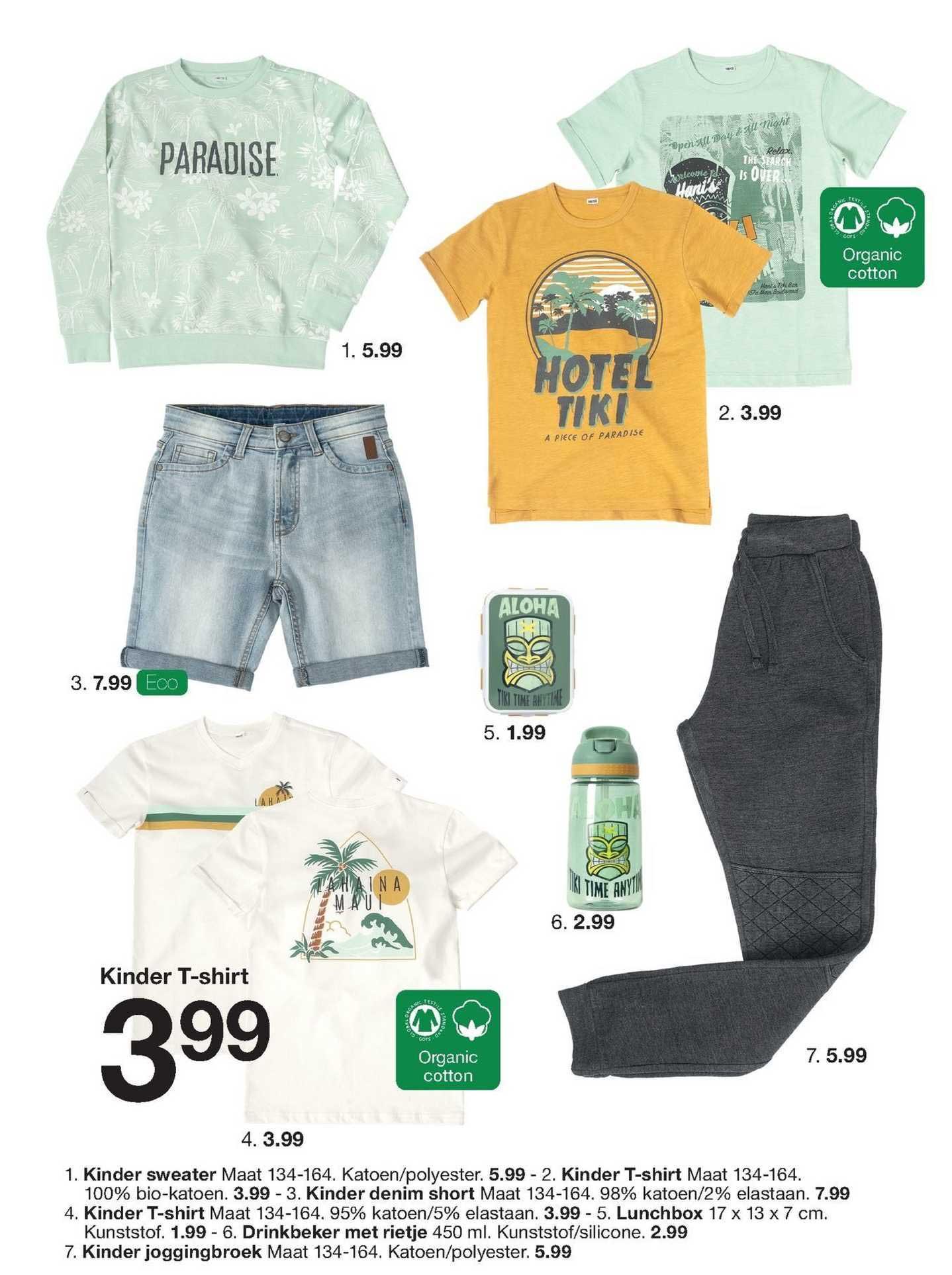 Zeeman Kinder Sweater, Kinder T-Shirt, Kinder Denim Short, Lunchbox, Drinkbeker Met Rietje Of Kinder Joggingbroek