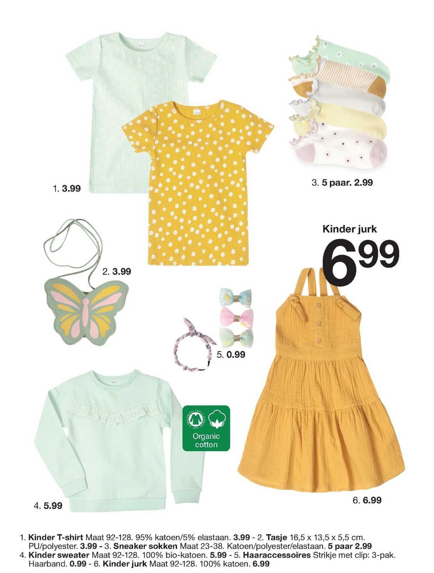 Zeeman Kinder T-Shirt, Tasje, Sneaker Sokken, Kinder Sweater, Haaraccessoires Of Kinder Jurk