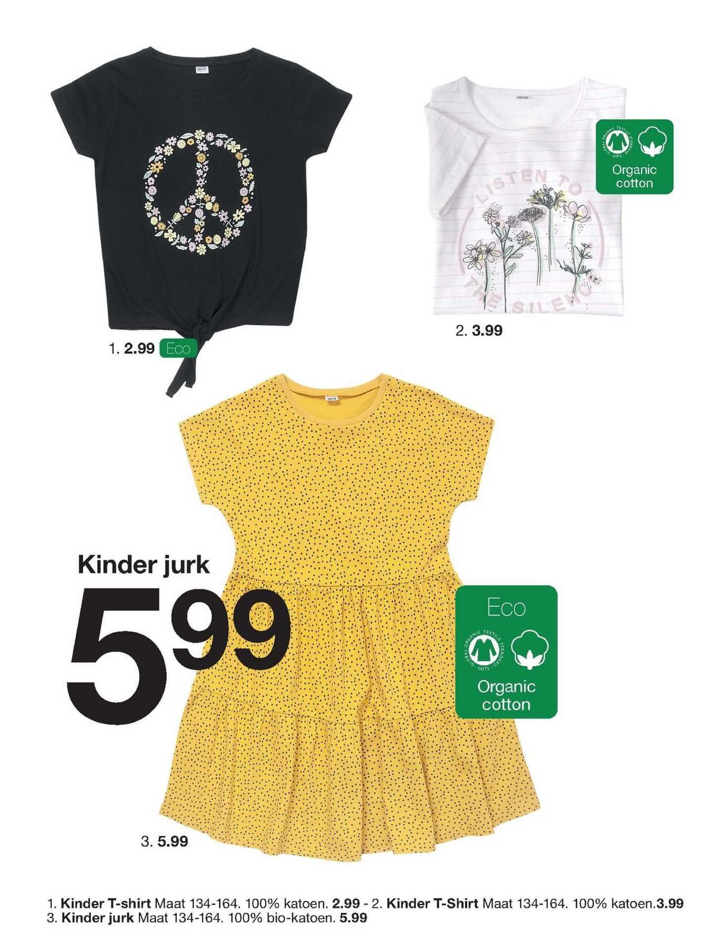 Zeeman Kinder T-Shirt Of Kinder Jurk