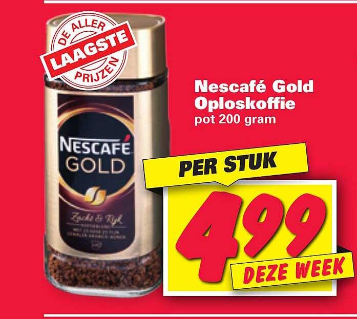 Nettorama Nescafé Gold Oploskoffie