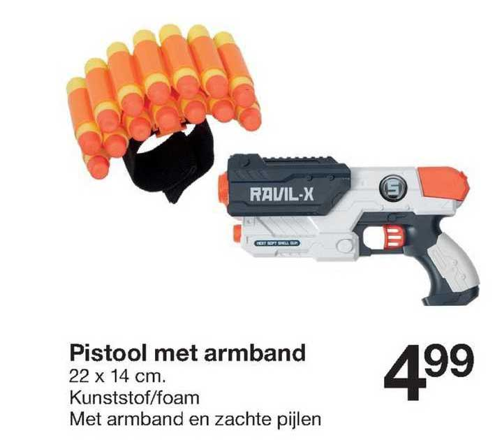 Zeeman Pistool Met Armband 22 X 14 Cm