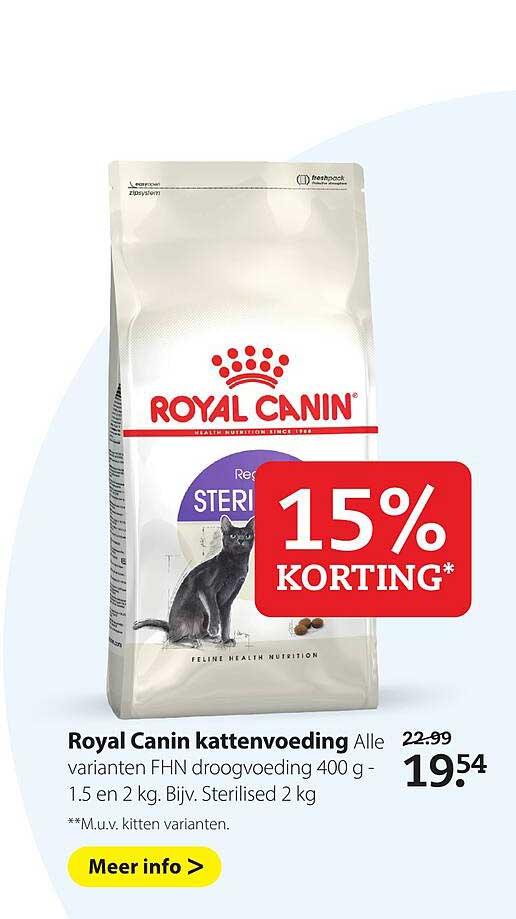 Pets Place Royal Canin Kattenvoeding 15% Korting