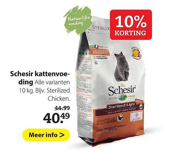Pets Place Schesir Kattenvoeding 10% Korting