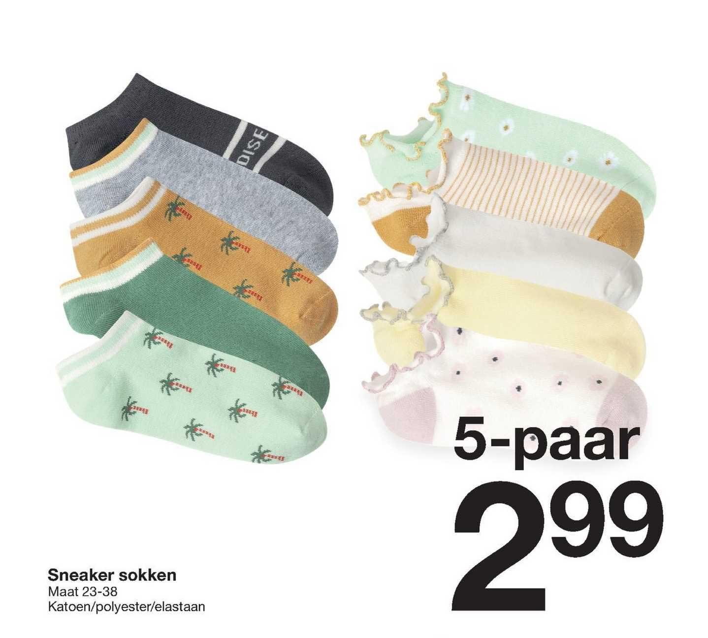 Zeeman Sneaker Sokken