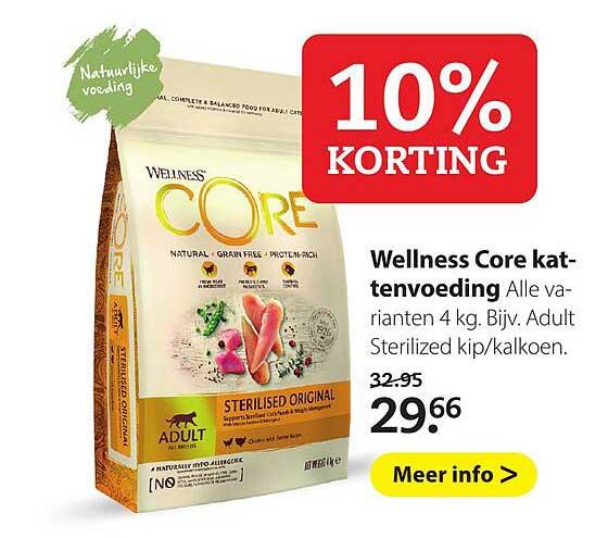 Pets Place Wellness Core Kattenvoeding 10% Korting