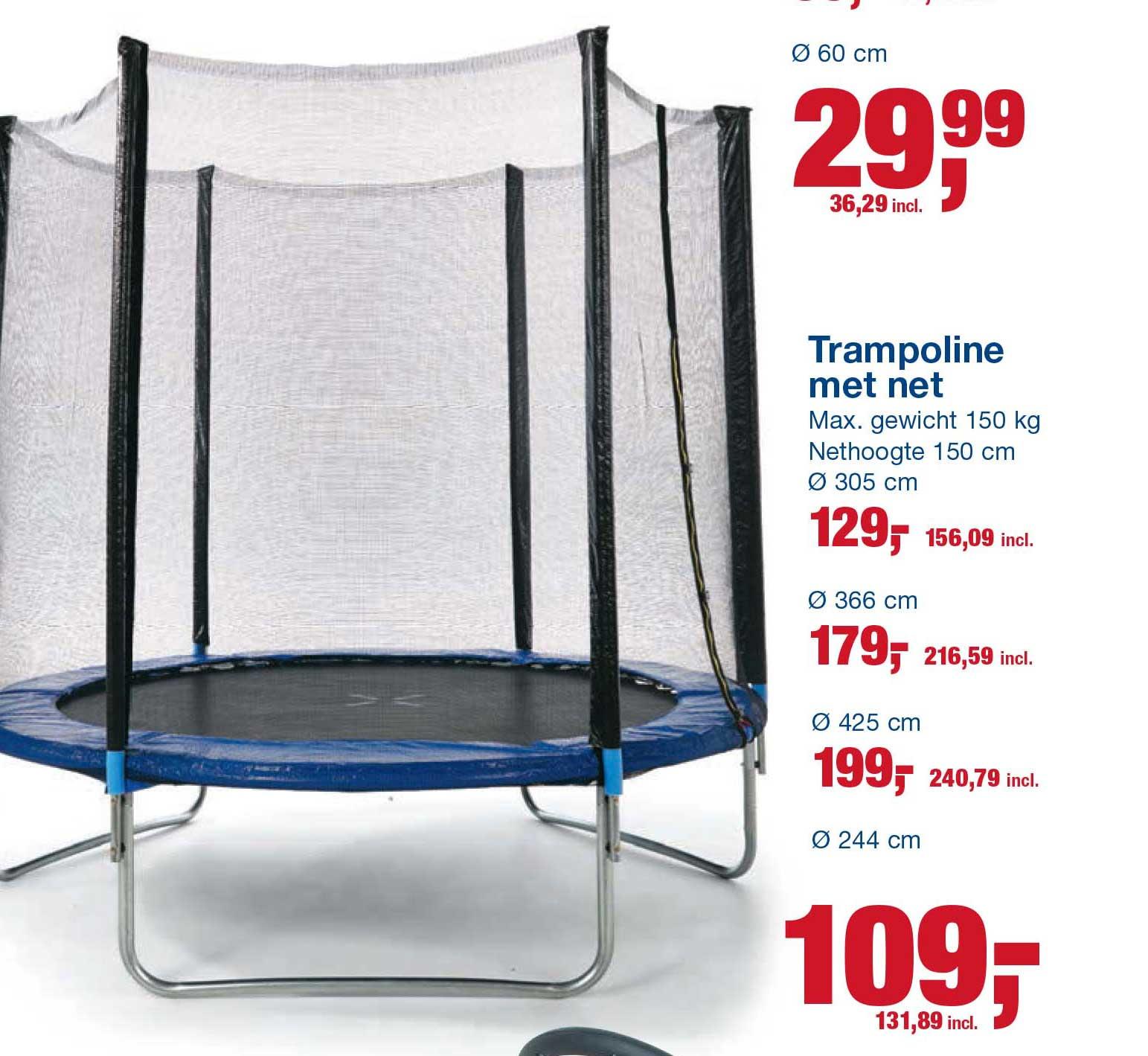 Makro Trampoline Met Net