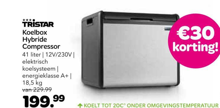 Vrijbuiter Tristar Koelbox Hybride Compressor