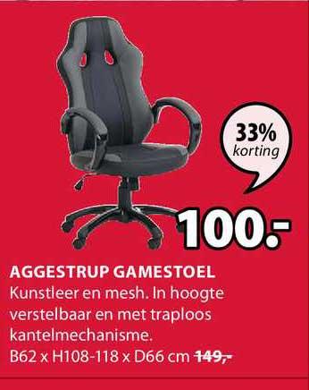 Jysk Aggestrup Gamestoel 33% Korting