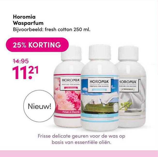 Drogisterij Visser Horomia Wasparfum 25% Korting