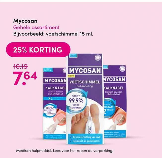 Drogisterij Visser Mycosan 25% Korting