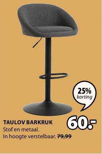 Jysk Taulov Barkruk 25% Korting