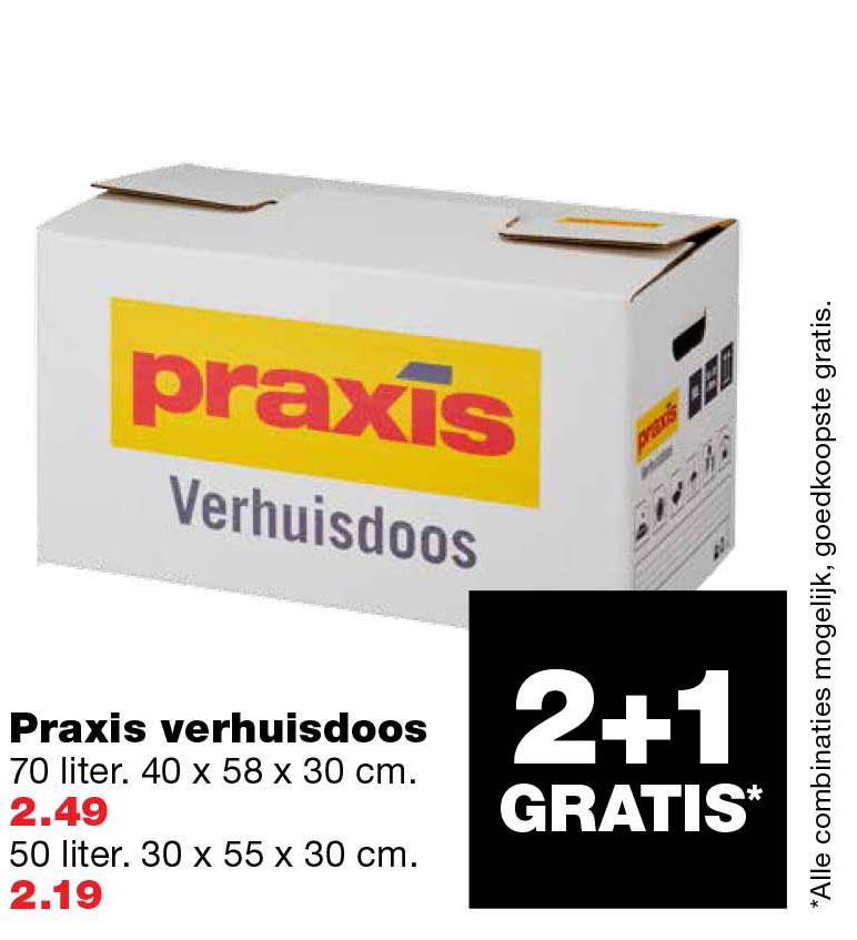 Praxis Praxis Verhuisdozen: 2+1 Gratis