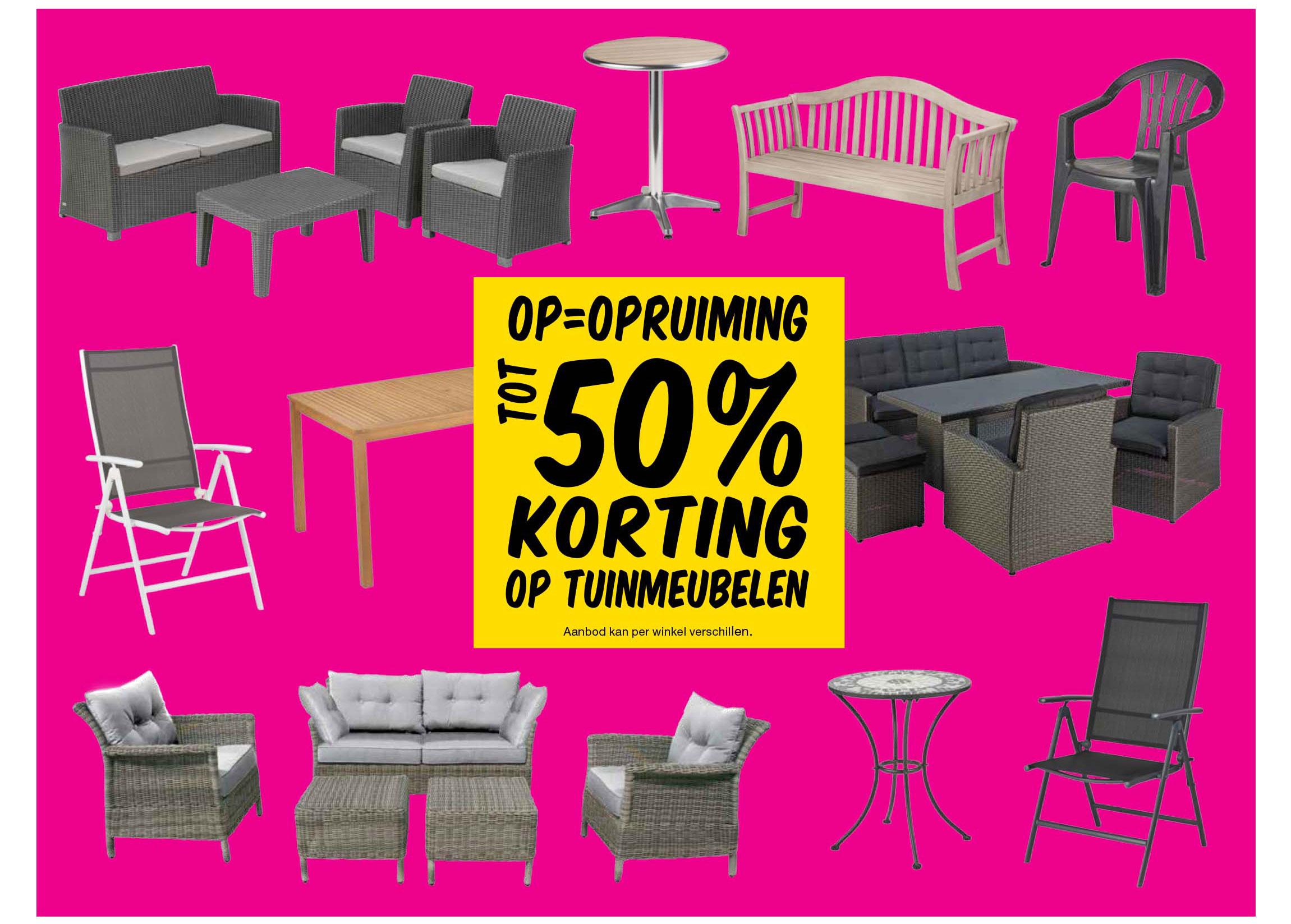 Praxis Tot 50% Korting Op Tuinmeubelen