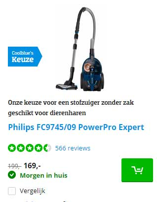 Coolblue Philips FC9745-09 PowerPro Expert