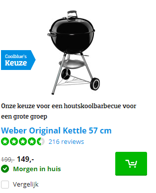 Coolblue Weber Original Kettle 57 Cm