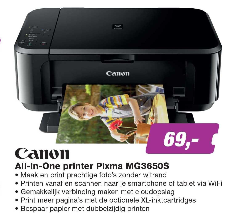EP Canon All In One Printer Pixma MG3650S