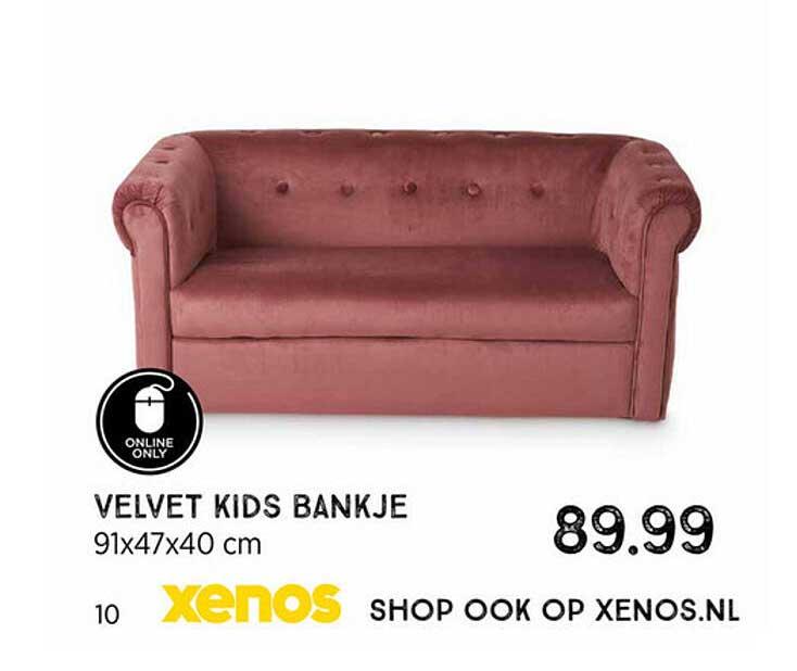 Xenos Velvet Kids Bankje