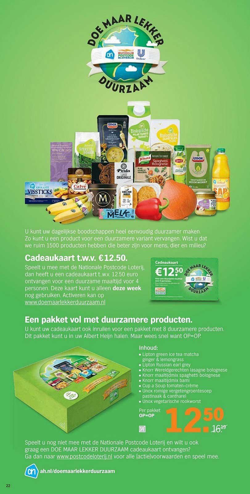 Albert Heijn Doe Maar Lekker Duurzaam Cadeaukaart