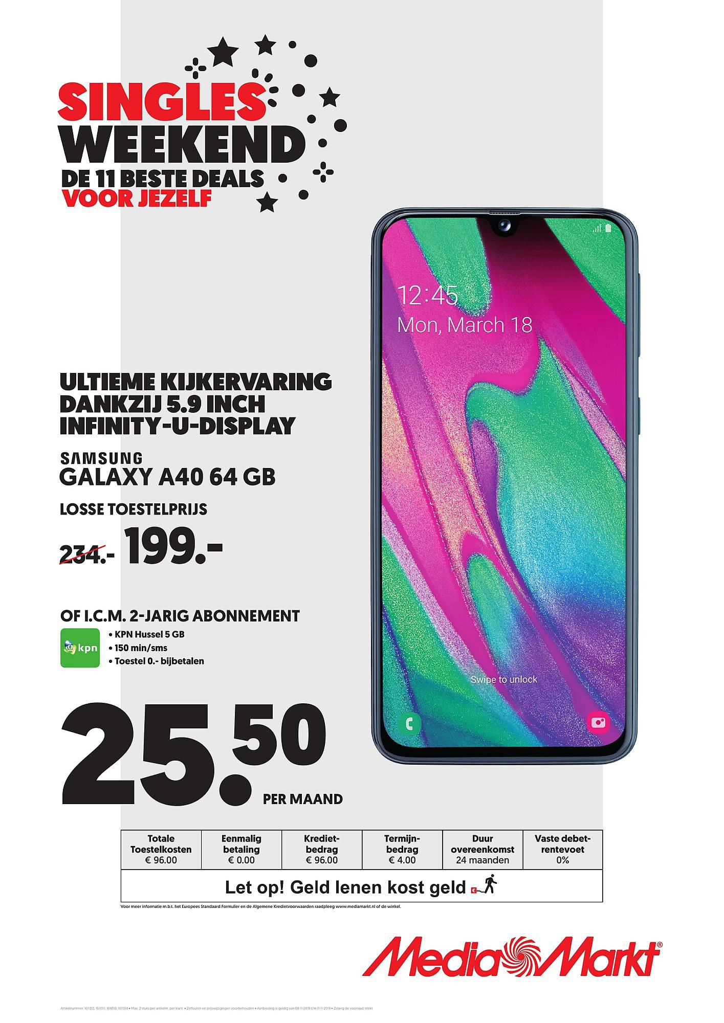 MediaMarkt Samsung Galaxy A40 64 GB
