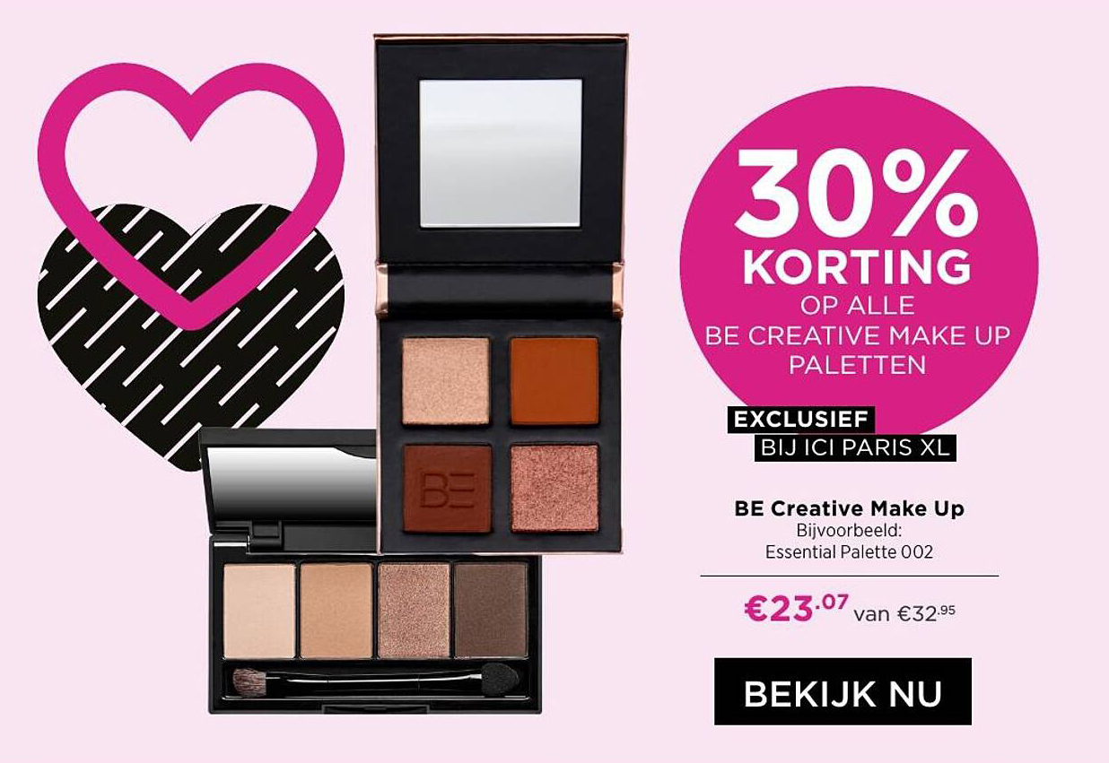 ICI PARIS XL Be Creative Make Up 30% Korting
