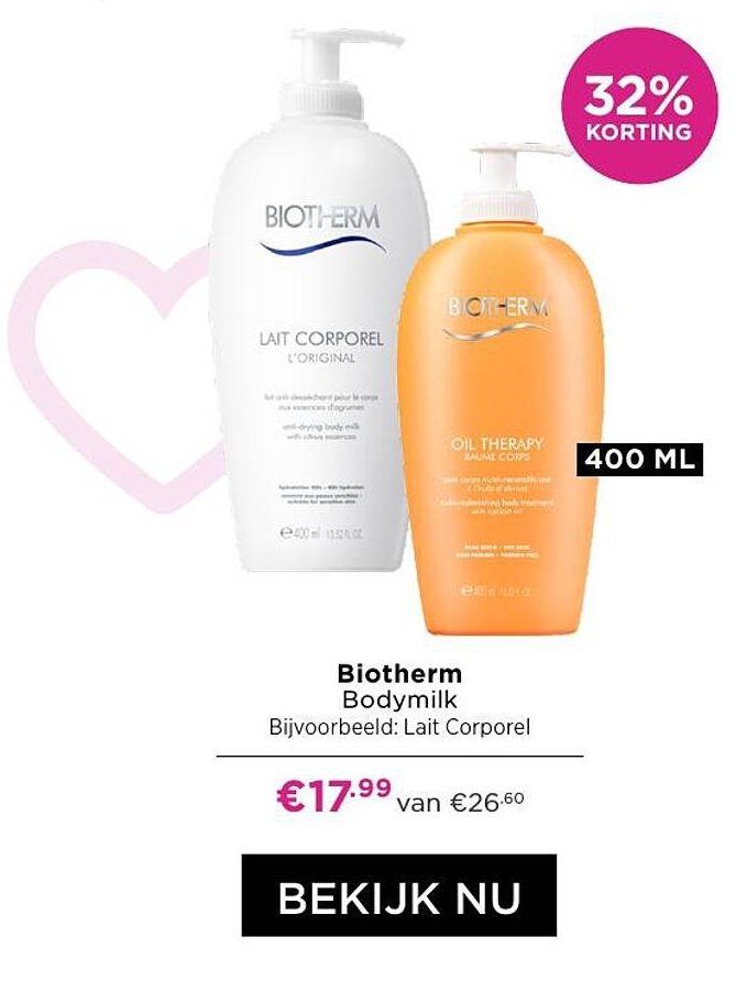 ICI PARIS XL Biotherm Bodymilk 32% Korting