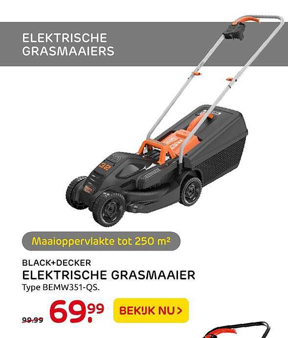Praxis Black+decker Elektrische Grasmaaier