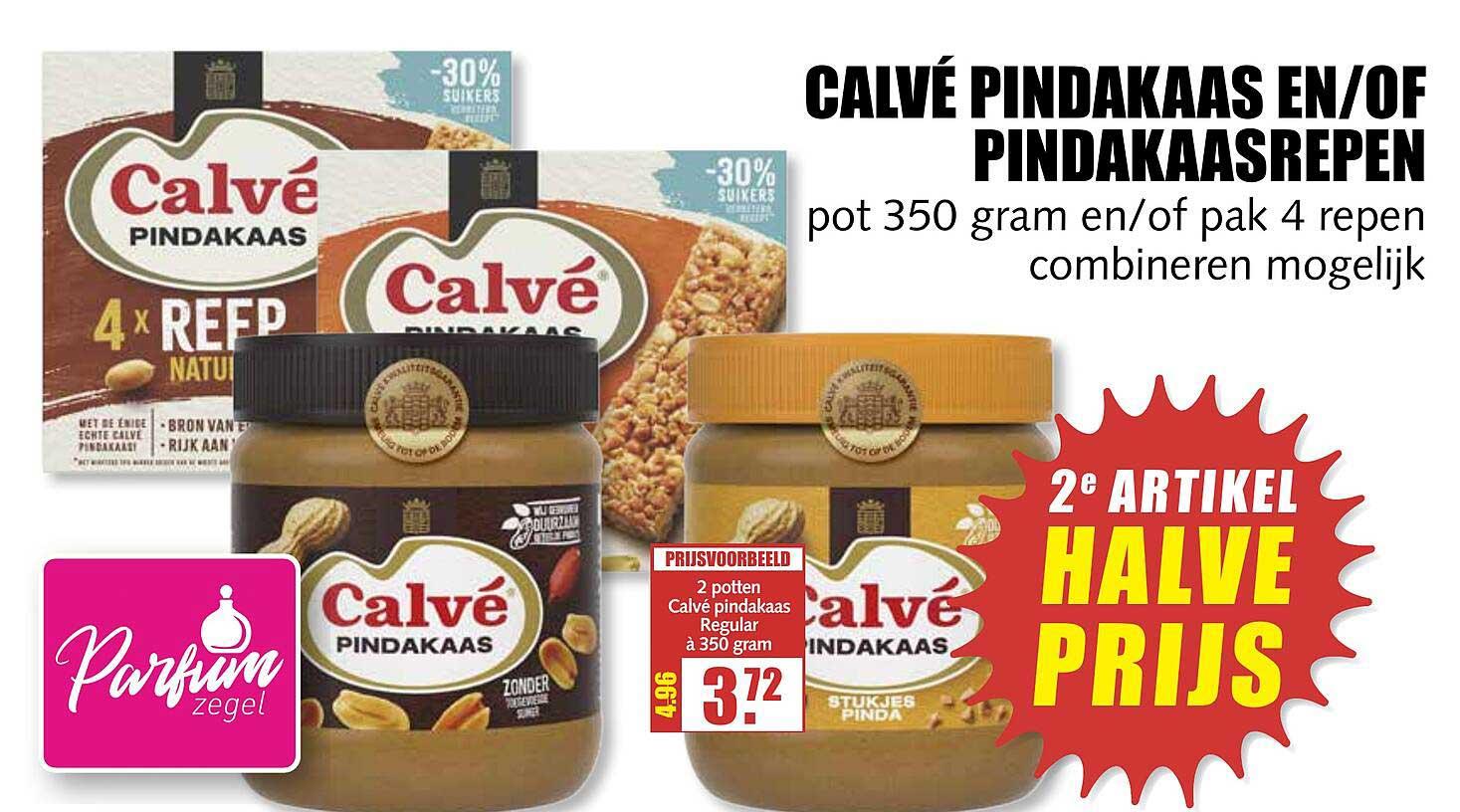 MCD Supermarkt Calvé Pindakaas En-of Pindakaasrepen