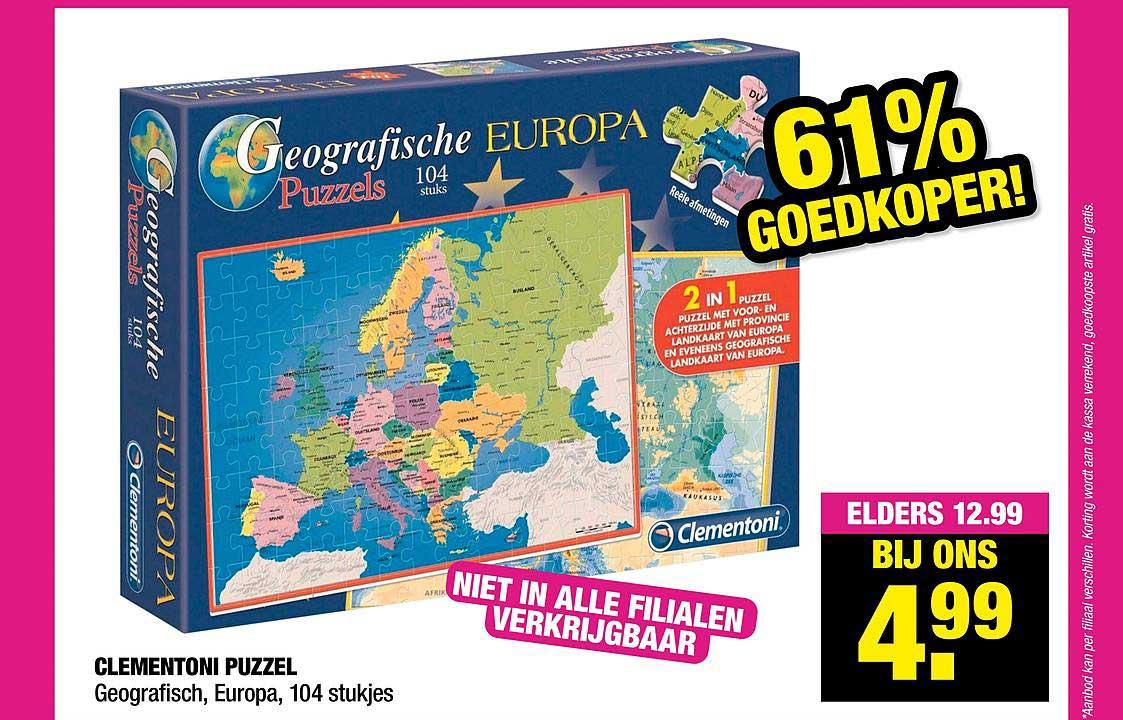 Big Bazar Clementoni Puzzel Geografisch, Europa