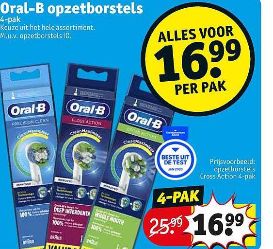 Kruidvat Oral-B Opzetborstels