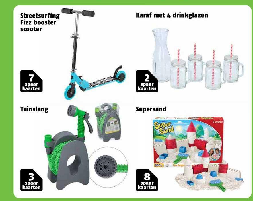 Poiesz Streetsurfing Fizz Booster Scooter, Tuinslang, Karaf Met 4 Drinkglazen Of Supersand