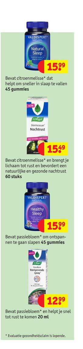 Kruidvat Valdispert Natural Natural Sleep, A. Vogel Nachtrust, Valdispert Natural Healthy Sleep Of A.Vogel Rustgevende Spray